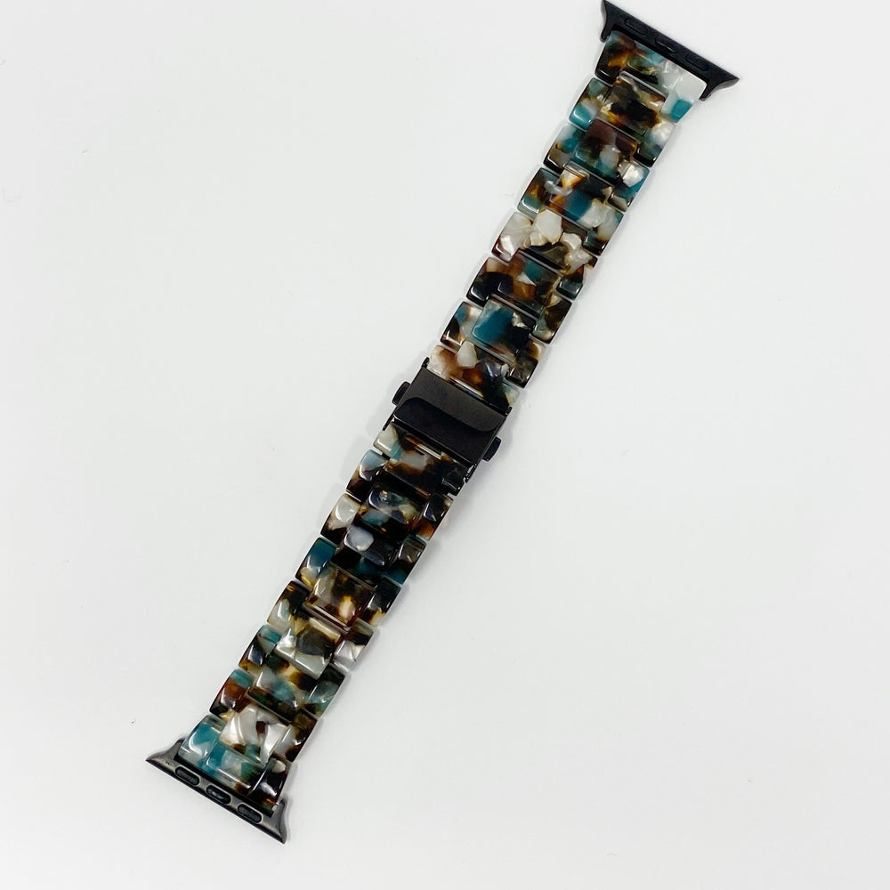 Apple Watch Band in Brown and Turquoise
