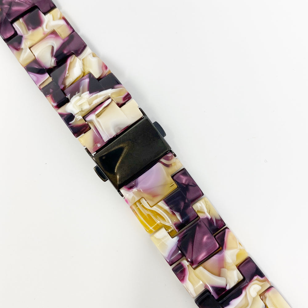 Apple Watch Band in Purple and Yellow
