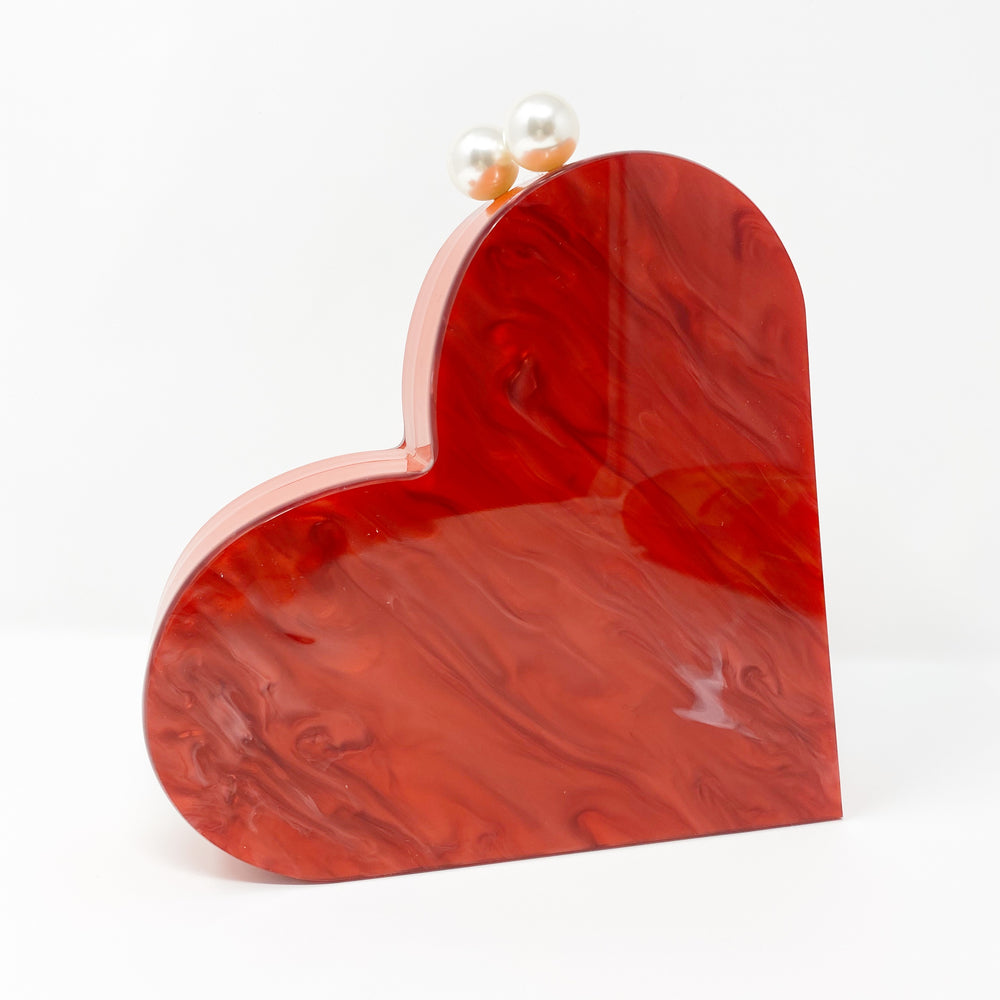 Heart Shaped Acrylic Party Box