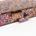 Acrylic Party Box in Multicolor Glitter