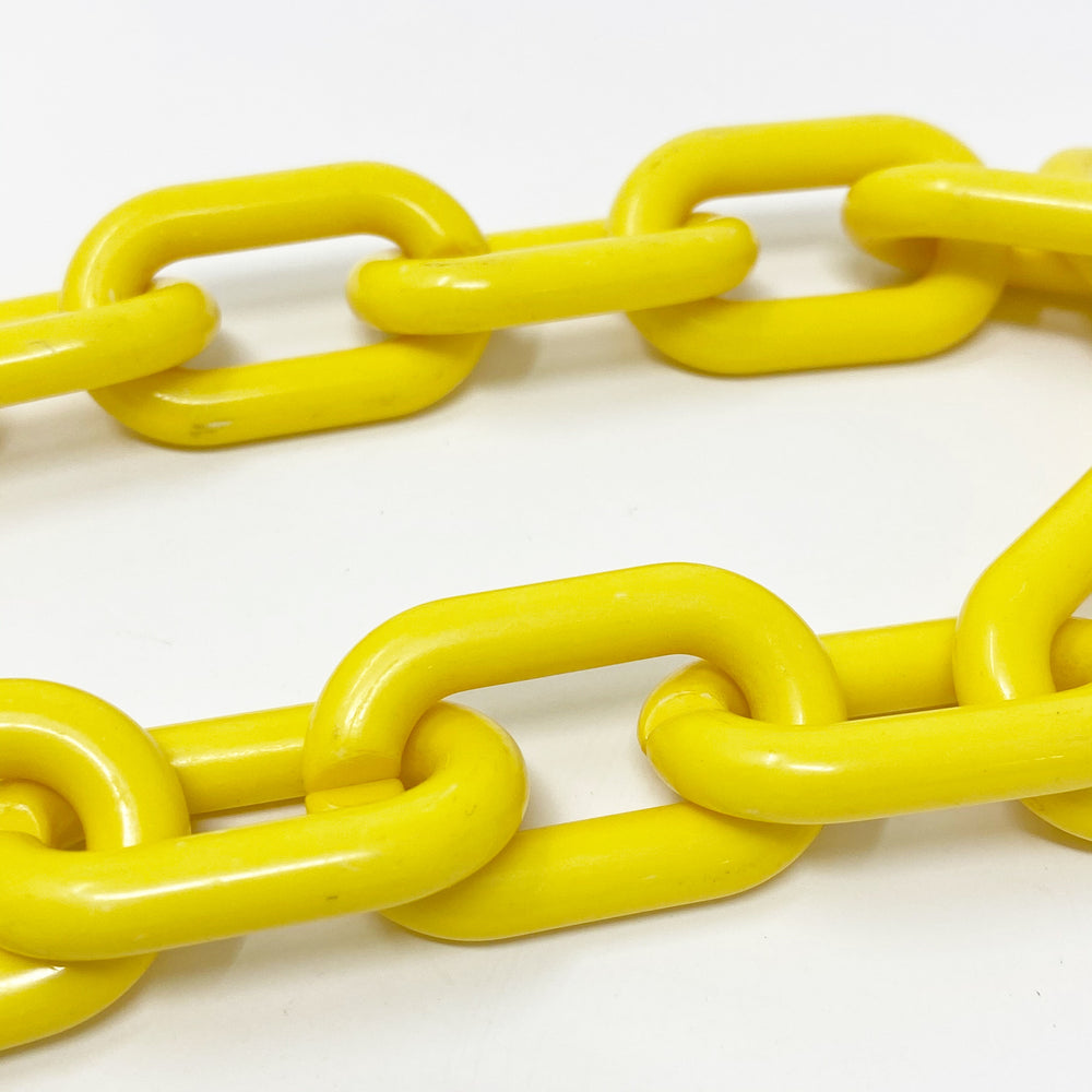 Super Short Chain Link Short Acrylic Purse Strap in Yellow
