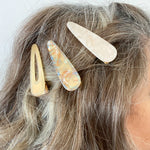 Hair Clip Trio in Beige