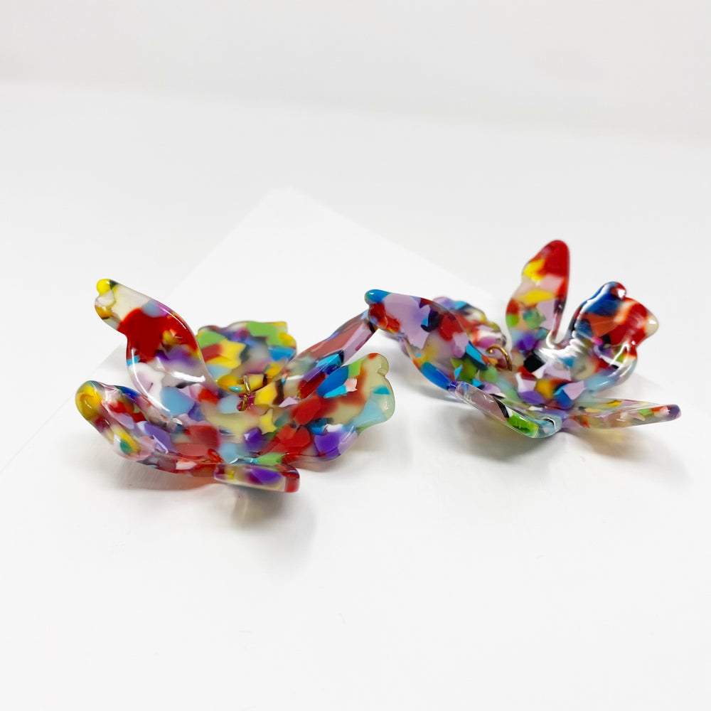 Paper Lily Earrings in Multicolor