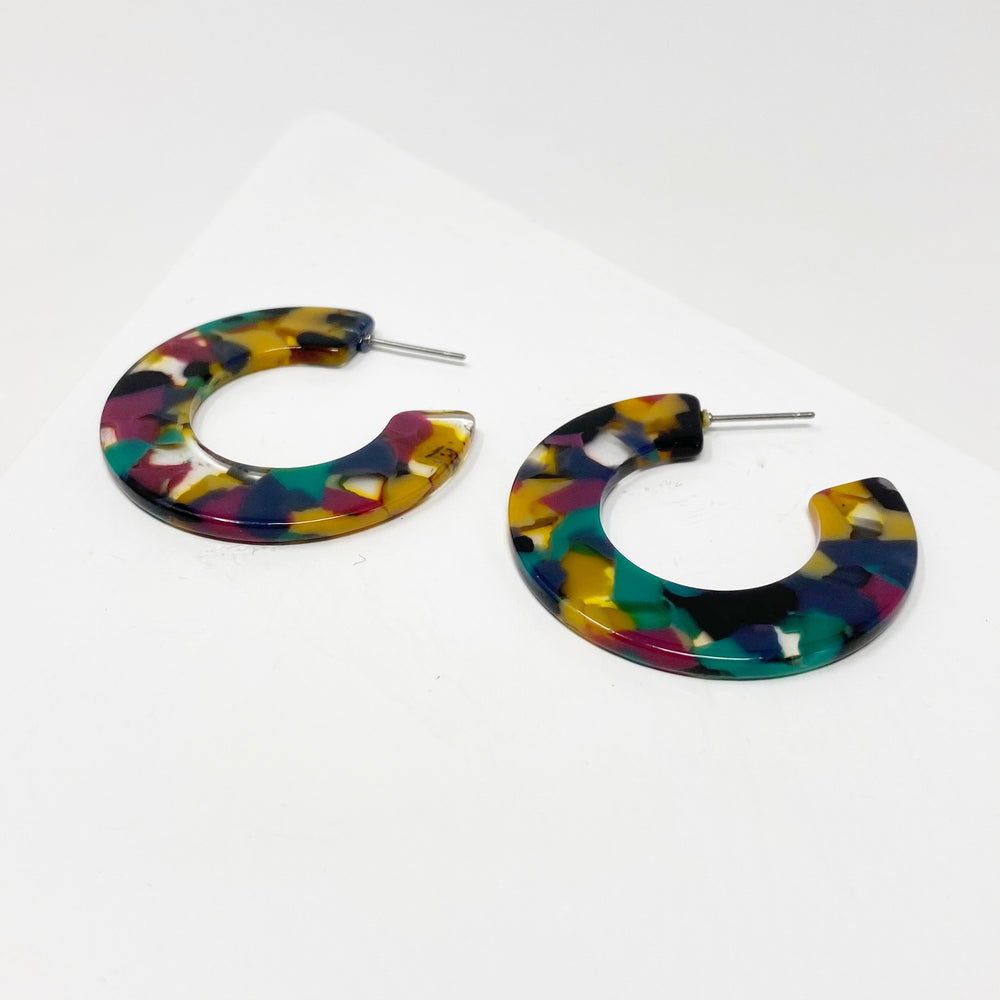 Mini Hoop Earrings in Jungle Punch