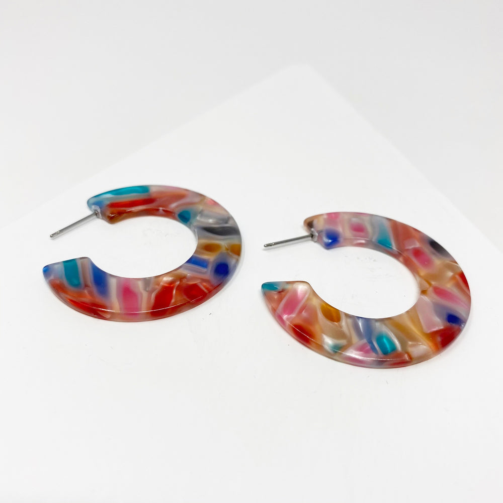 Mini Hoop Earrings in Rainbow Bright