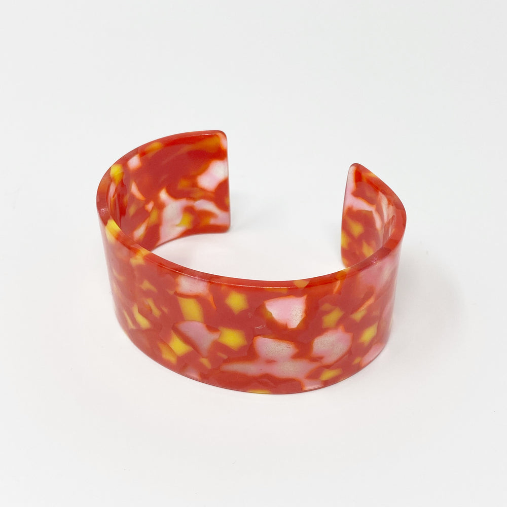 Large Cuff in Red and Yellow