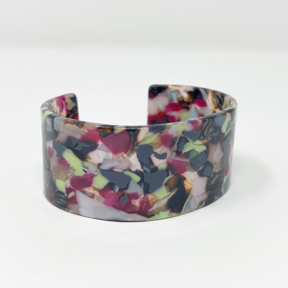 Large Cuff in Purple and Mint