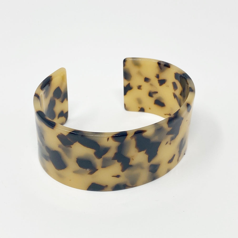 Large Cuff in Blond Tortoise