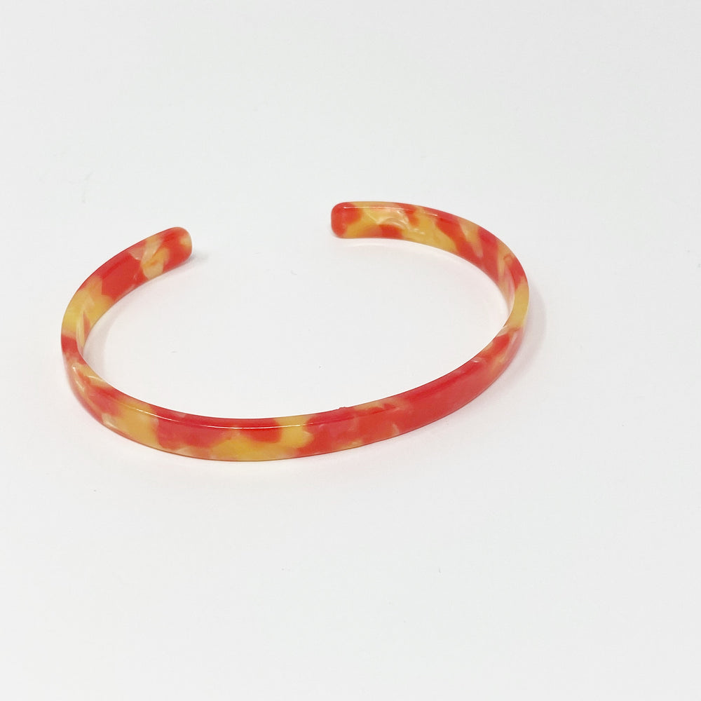 Skinny Cuff in Red and Yellow