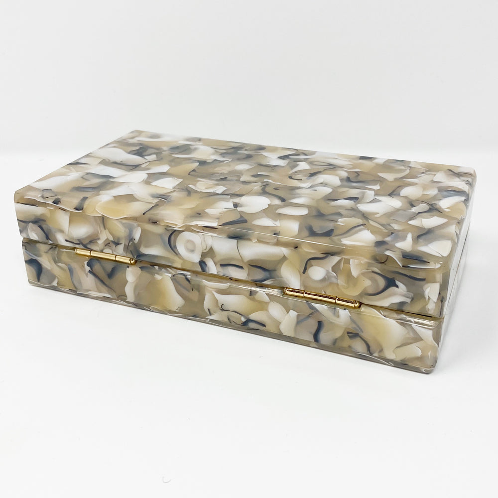 Acrylic Party Box in Khaki Mix