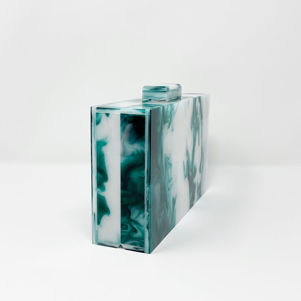 Acrylic Party Box in Green and White