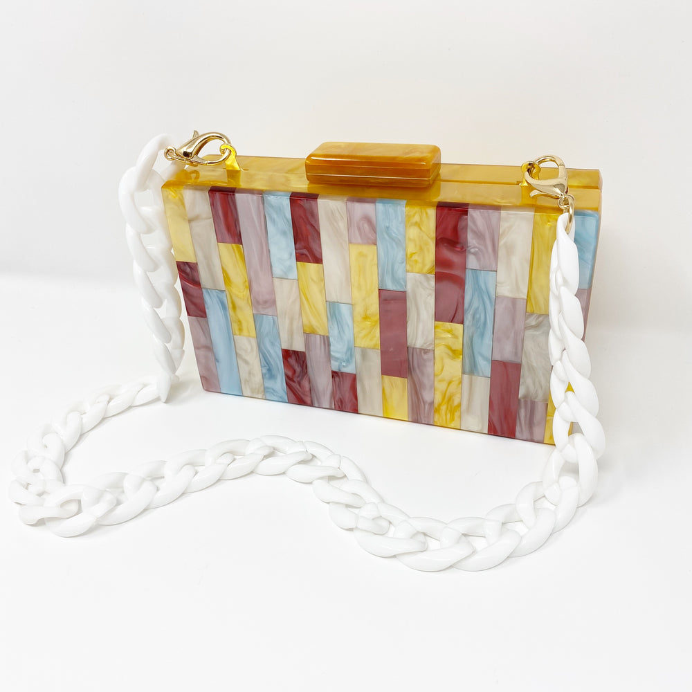 Acrylic Party Box in Midsummer Stripe