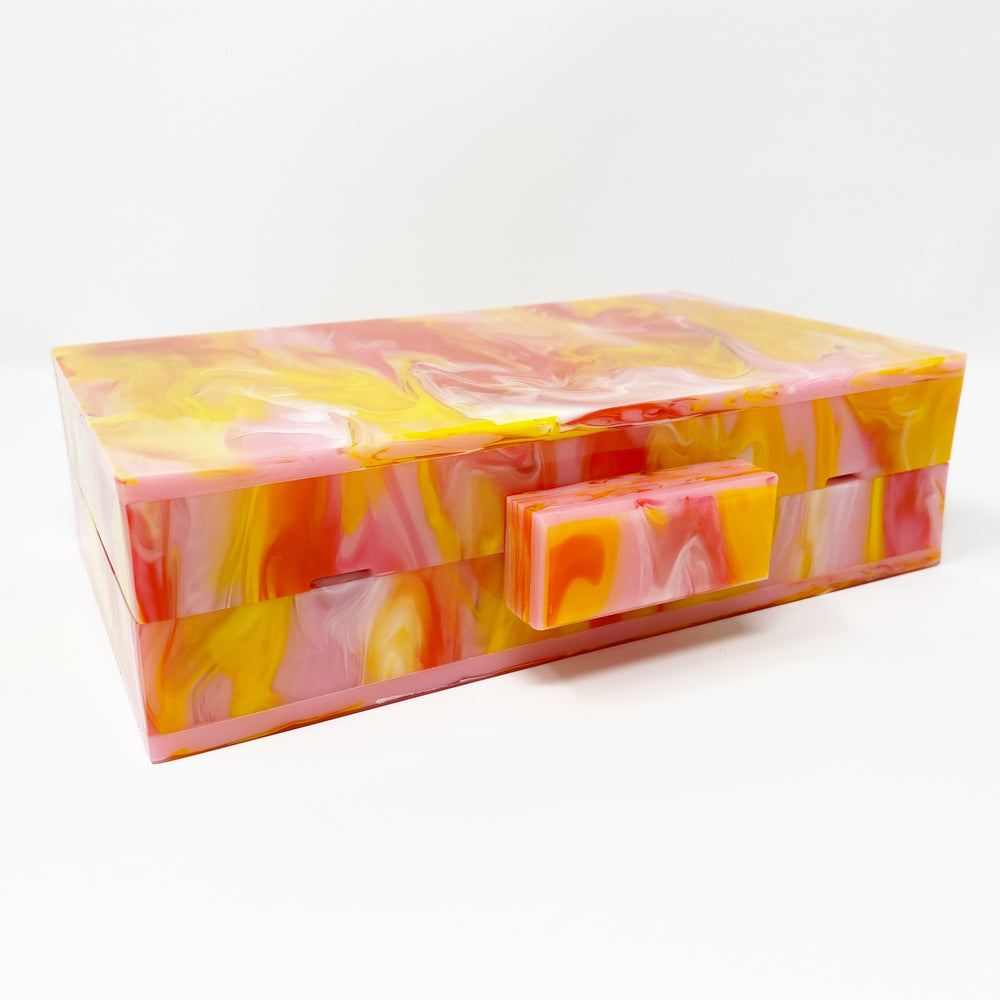 Acrylic Party Box in Pink and Yellow