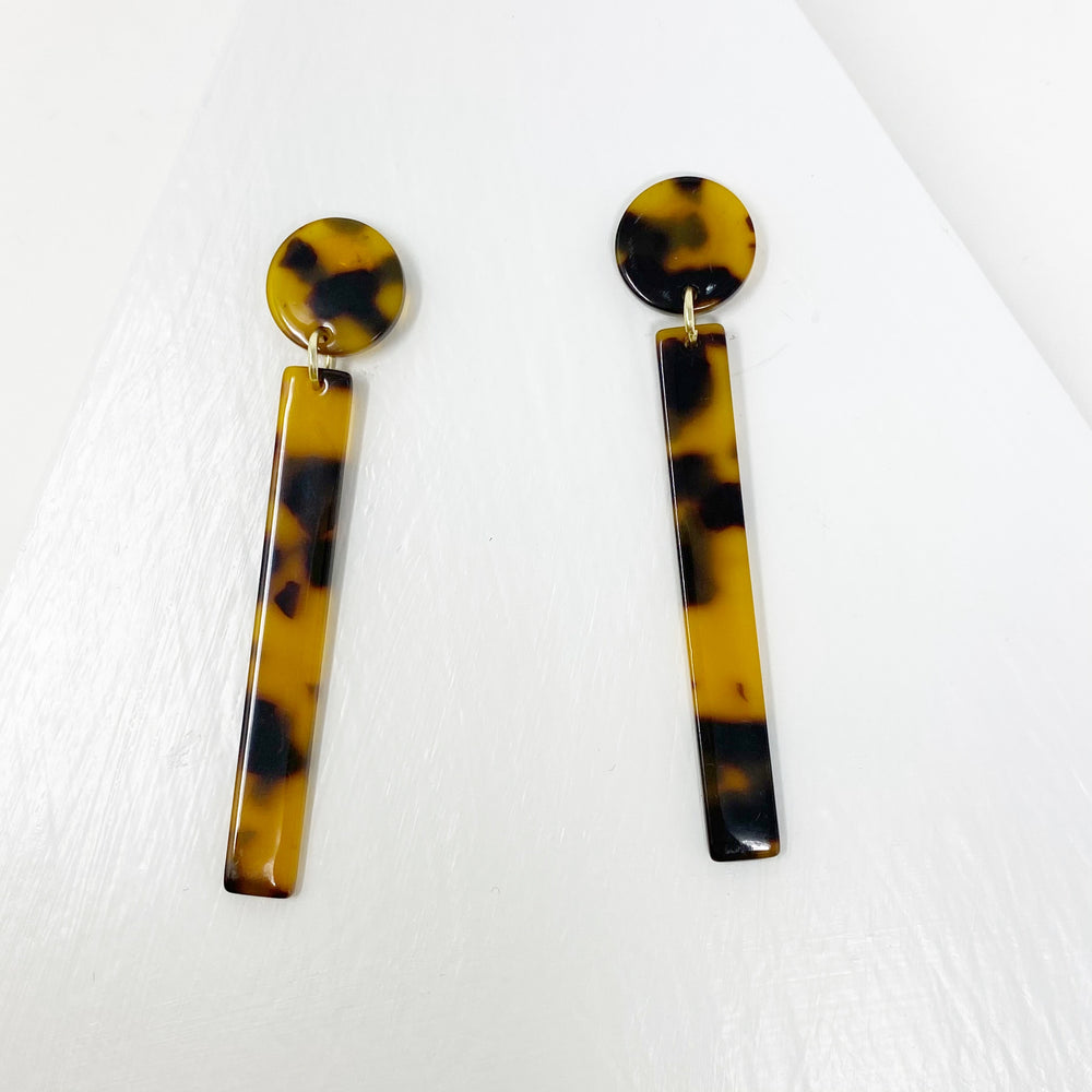 Matchstick Drop Earrings in Tortoise