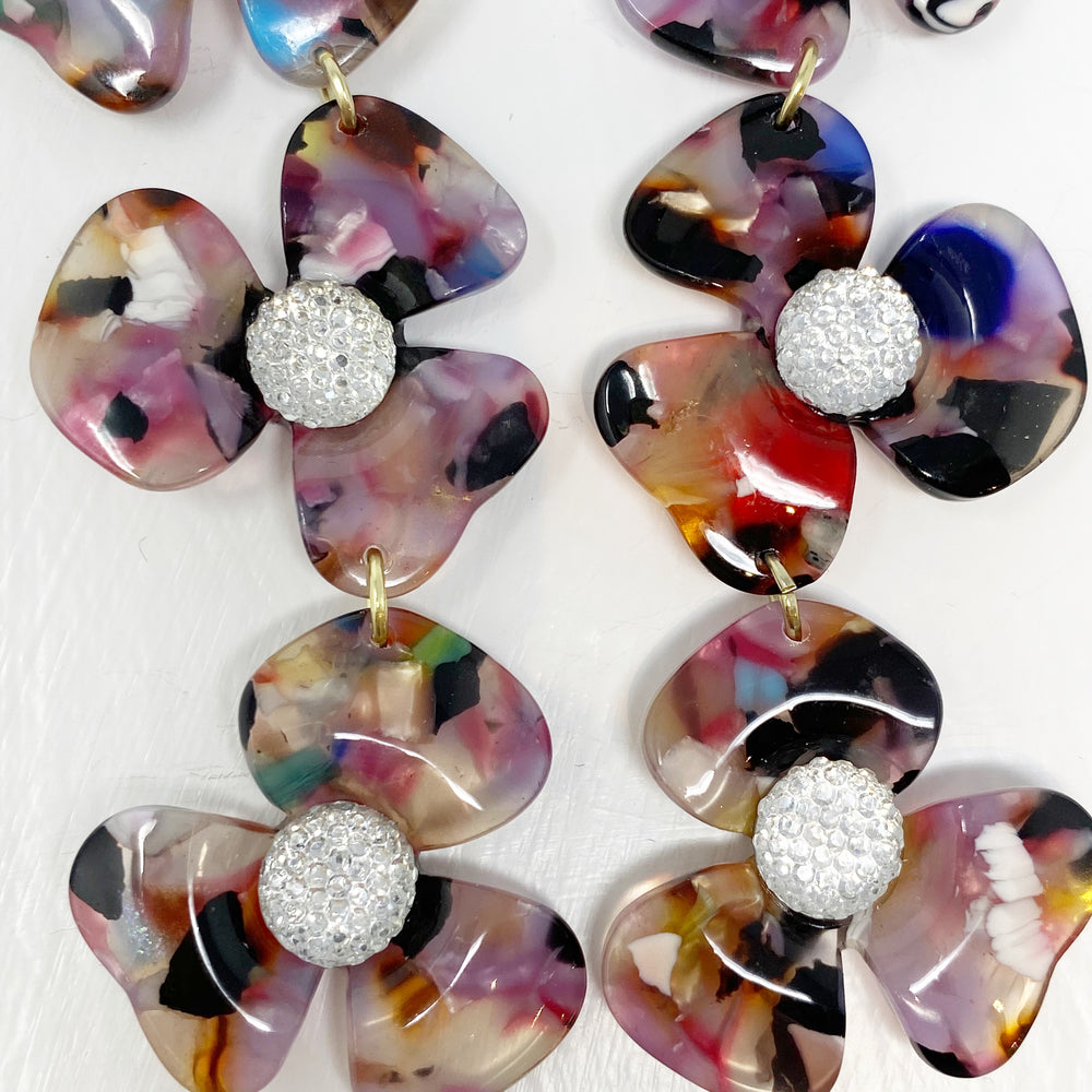 Crystal Water Poppy Drops in Multicolor