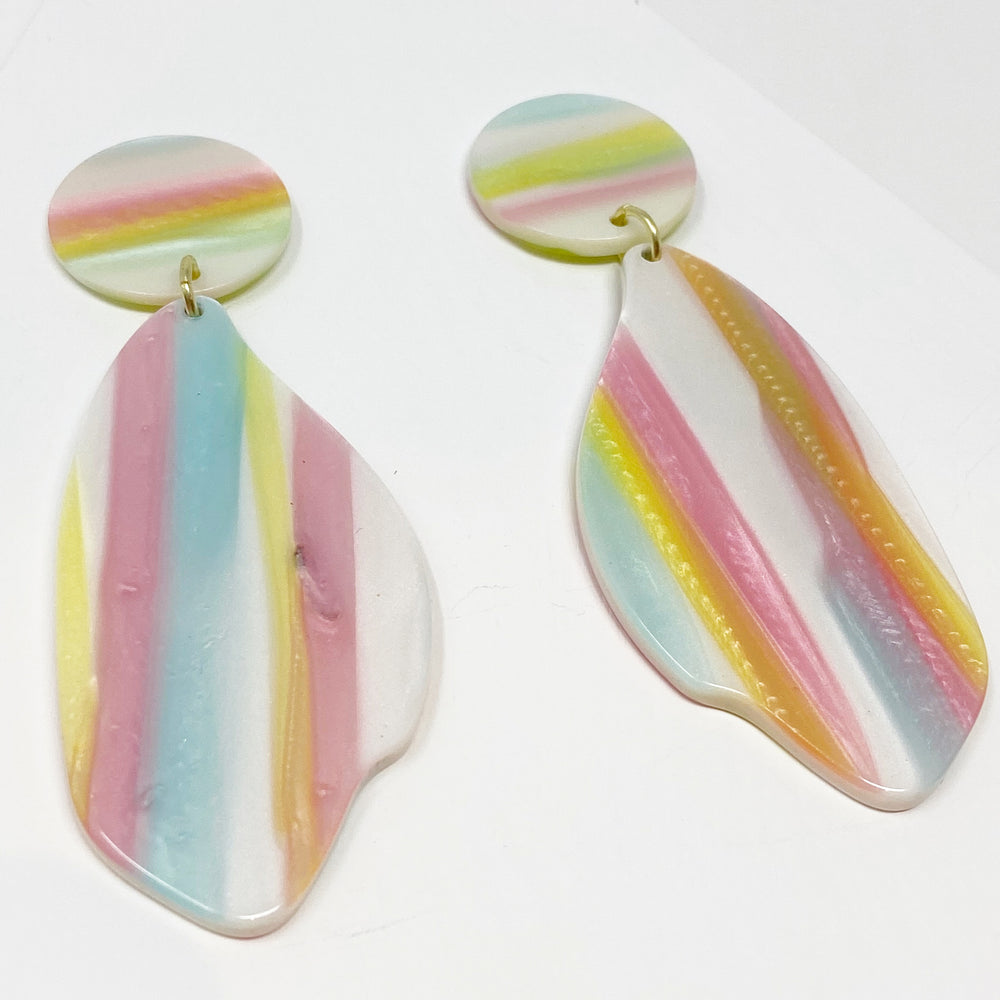 Petal Drops in Pastel Stripe
