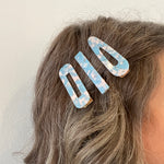 Hair Clip Trio in Pink and Blue