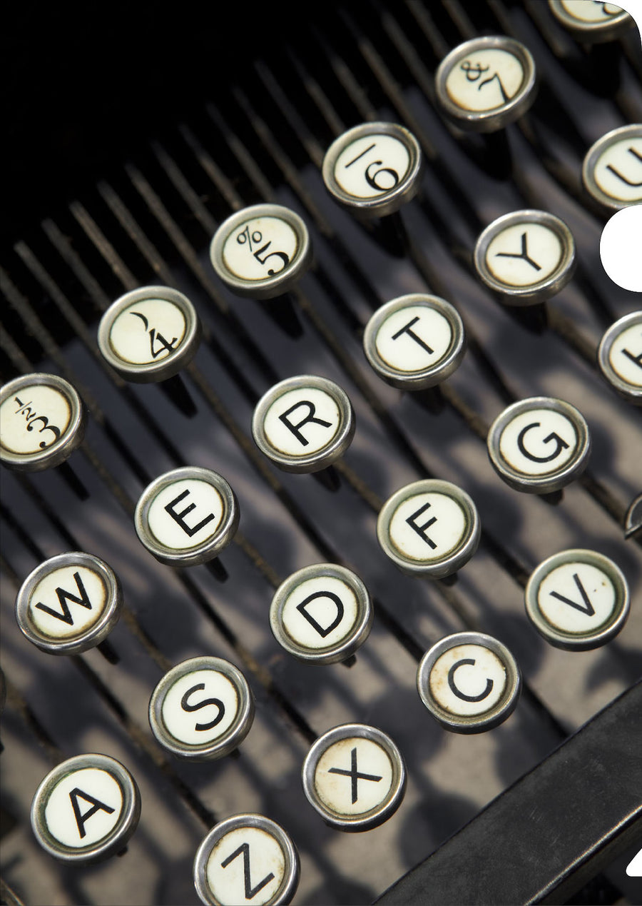 Typewriter Keys Document Cover