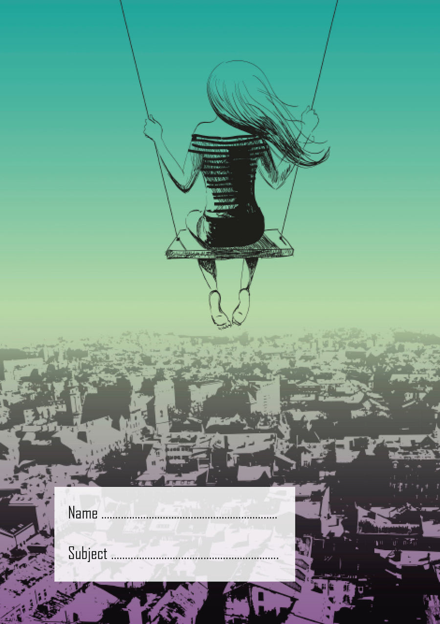 Girl on Swing School Book Cover