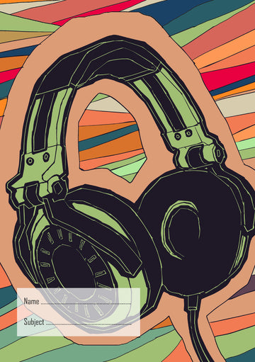Headphones School Book Cover