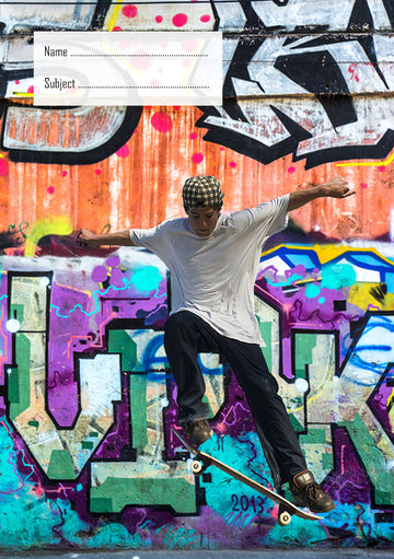 Skateboarder School Book Cover