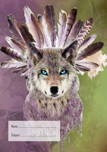 Wolf Exercise Book Cover