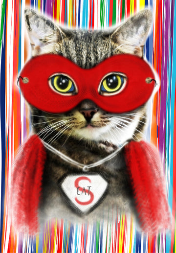 Super Cat Well Child Notebook Cover