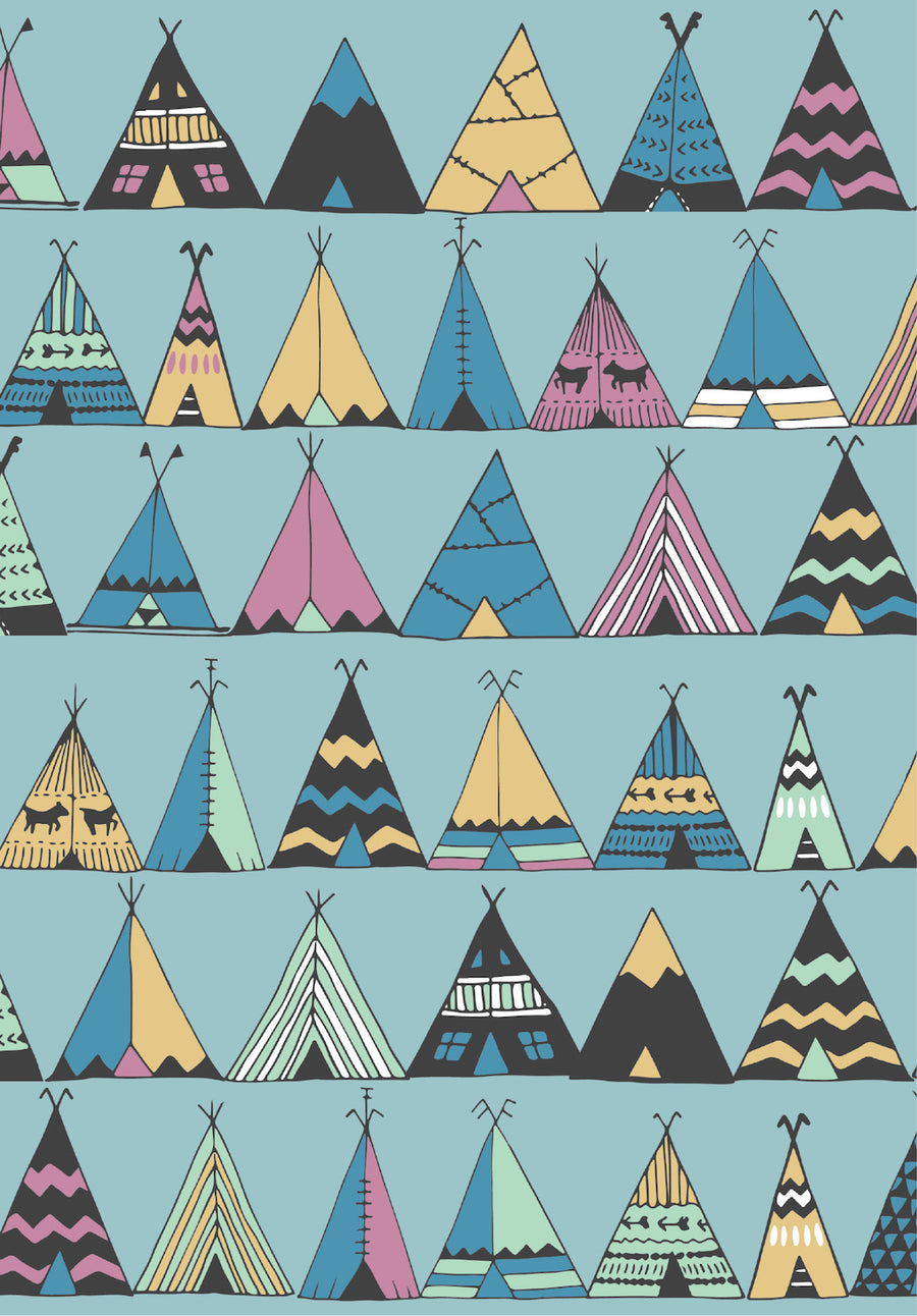 Teepees Well Child Notebook Cover
