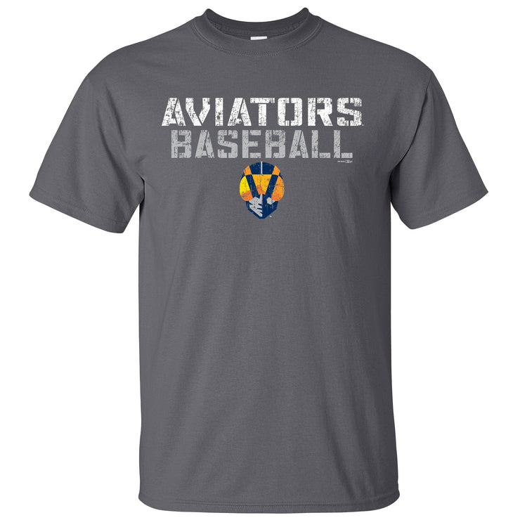 Men's Aviator's T-shirt-Gray