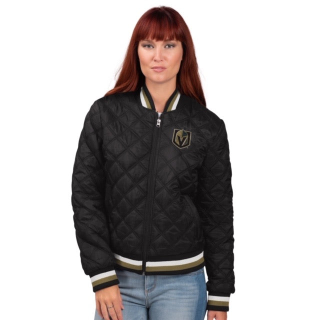 Vegas Golden Knight Quilted Bomber Jacket