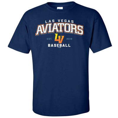 Men's Aviator T-Shirt-Navy