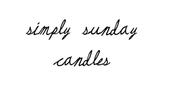 Simply Sunday Candles