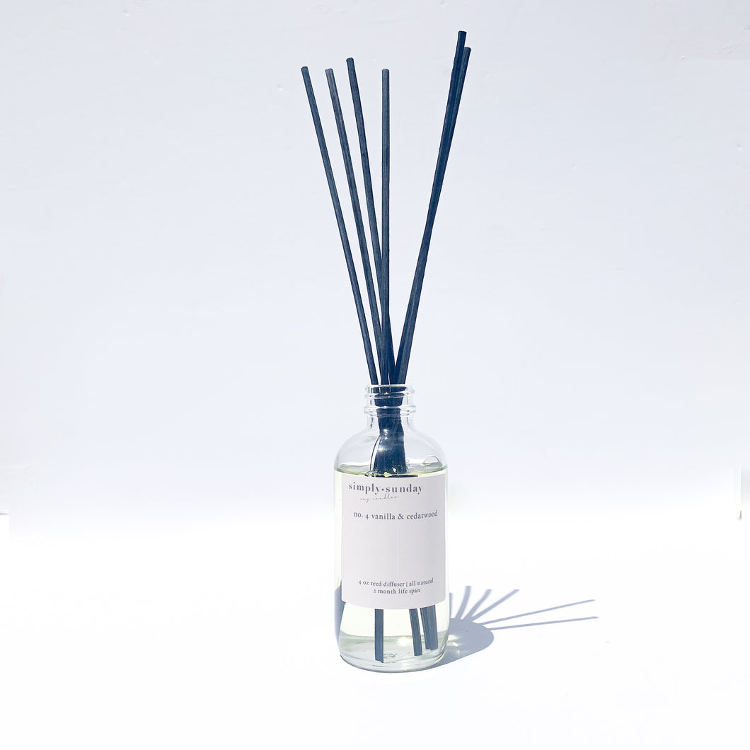 No. 4 Vanilla & Cedar-wood Reed Diffuser
