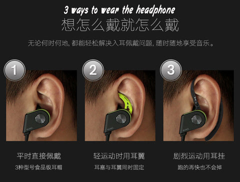 K1 3 ways to wear the earphone
