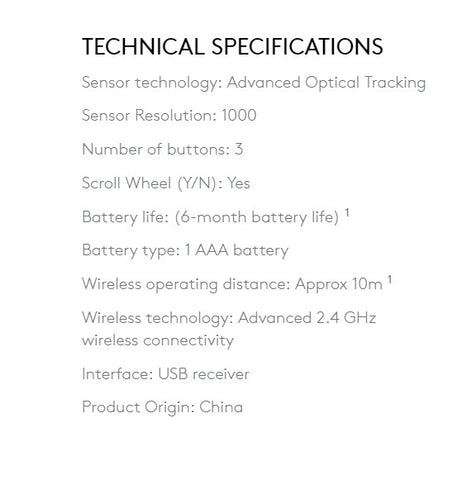 M187 specifications