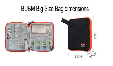 BUBM zipper bag large size dimension