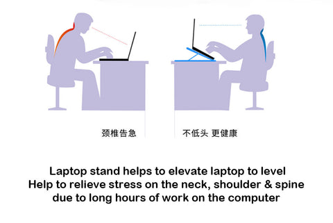 laptop stand can help alleviate neck and shoulder strain