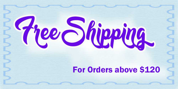 Free Shipping for orders above $120