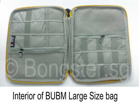 interior of BUBM zipper bag large