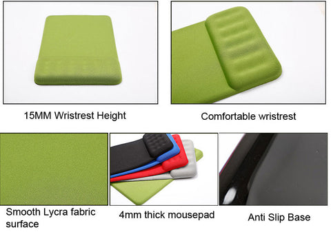 mousepad with wristrest dimension