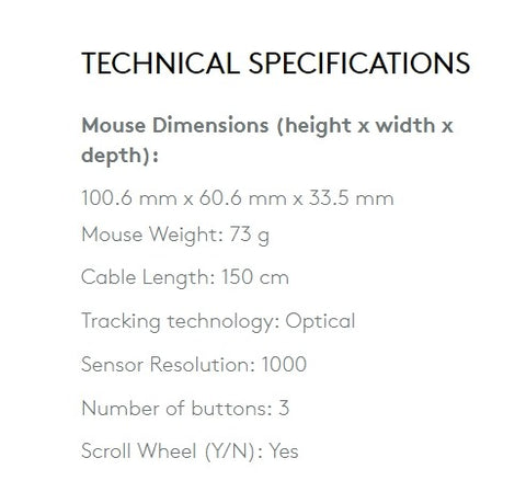 M105 technical specifications