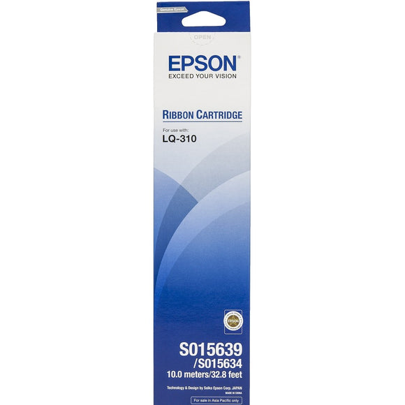 Original Genuine Epson LQ-310 Ribbon Cartridge S015639 / S015634