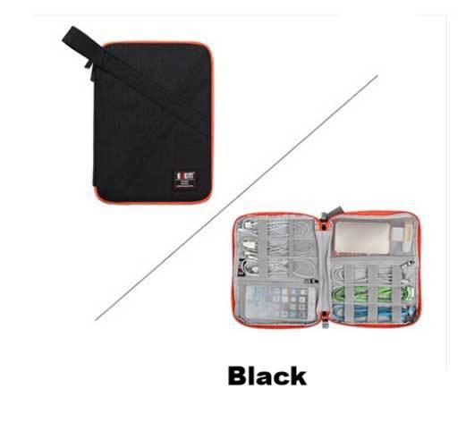 BUBM Cable Organizer Zipper Bag Large