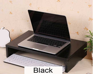 Sturdy 1 level wooden laptop riser Ergonomic stand, Model H