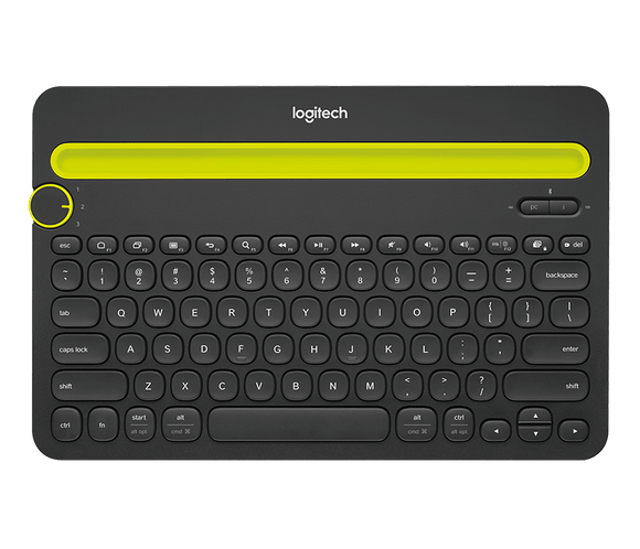 Logitech K480 Bluetooth Multi Device Keyboard Black
