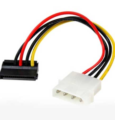 Power Cable Molex IDE to Serial ATA Power (Sata) Adapter 4 Pin to 12 Pin Cable