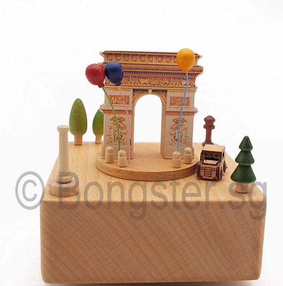 Wooden Music Box Car Round Town YP1506