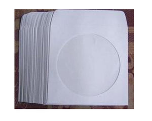 100 pieces per pack white paper CD DVD sleeves