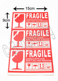 Fragile Handle with care self adhesive sticker