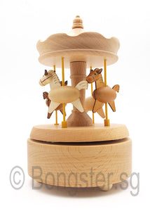 Wooden Music Box Carousel Horse YP1521